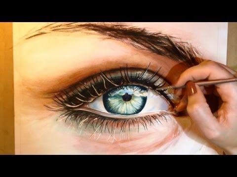 Tutorial Para Pintar Ojos En Acuarela Técnica Acuarela En 2019