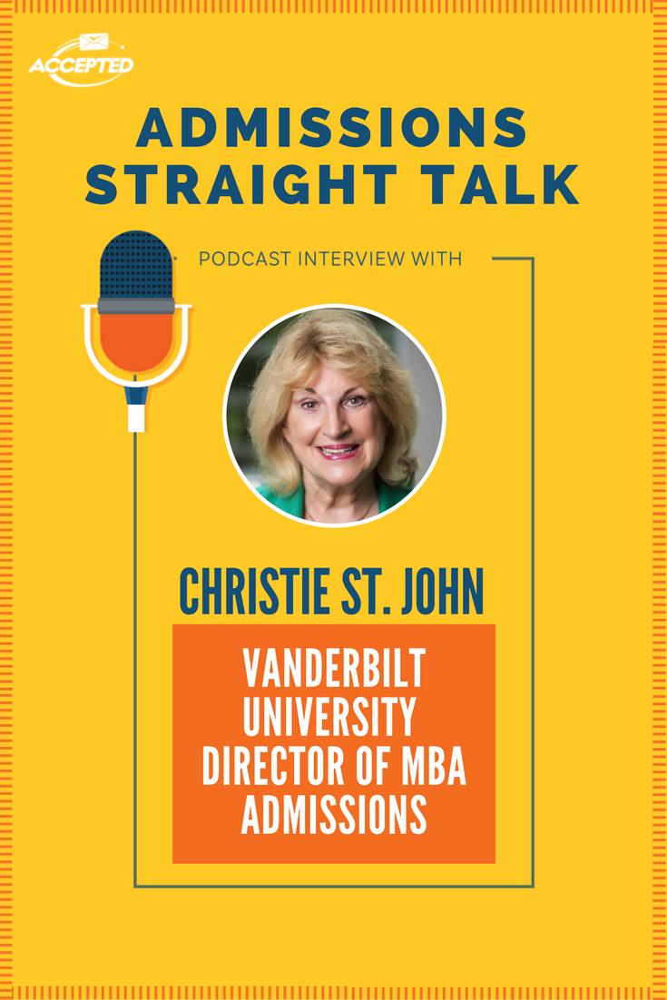 Christie St John Dir Of Admissions At Vanderbilt University S Owen Grad School Of Management Shares Insight Into The V Vanderbilt Admissions Graduate Program