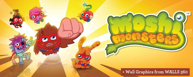 Moshi Monsters Wall Graphics from WALLS 360 http://walls360.com/MoshiMonsters