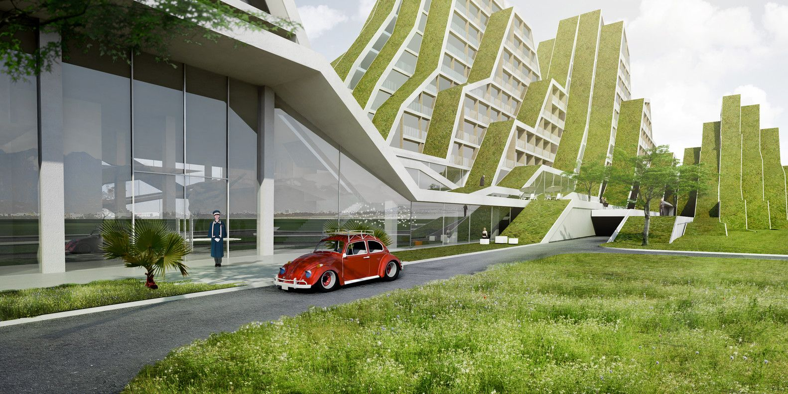 Gallery Of Hualien Residences Big 10 Green Roof Architecture Green Design