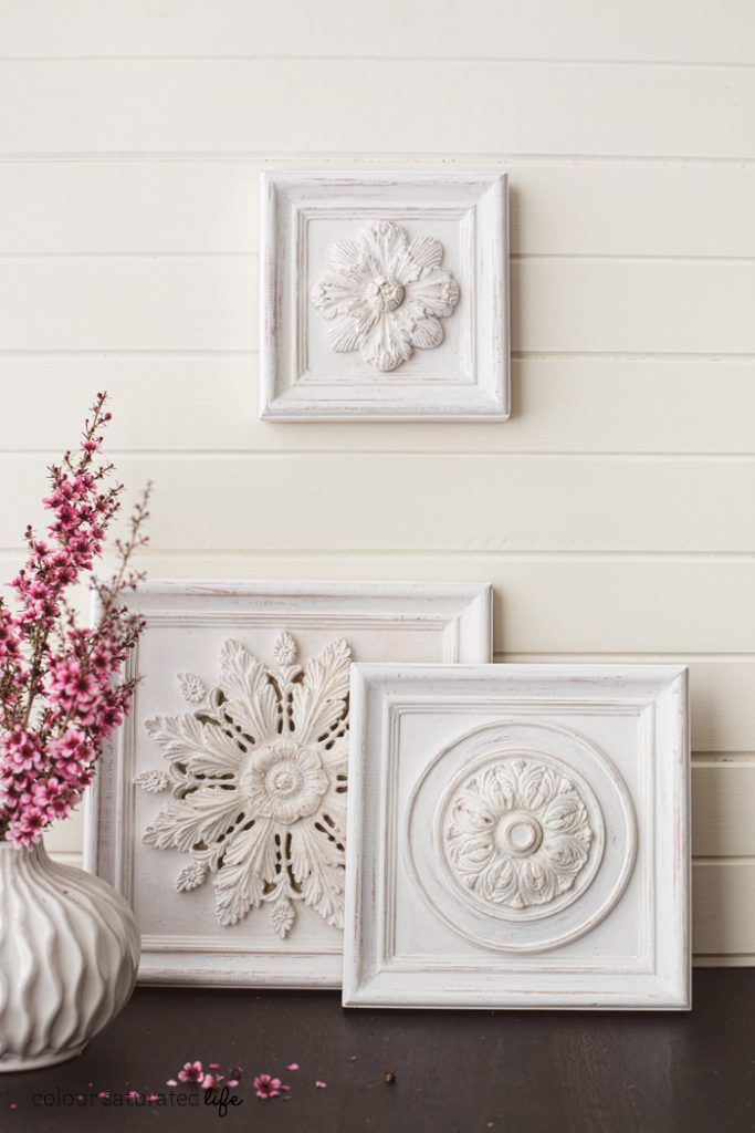 Make Beautiful Art For Your Wall Using Ceiling Medallion