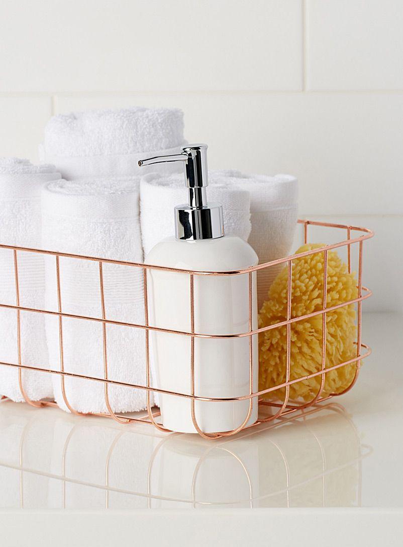Small metal basket | Pinterest | Metal baskets, Bathroom accessories ...