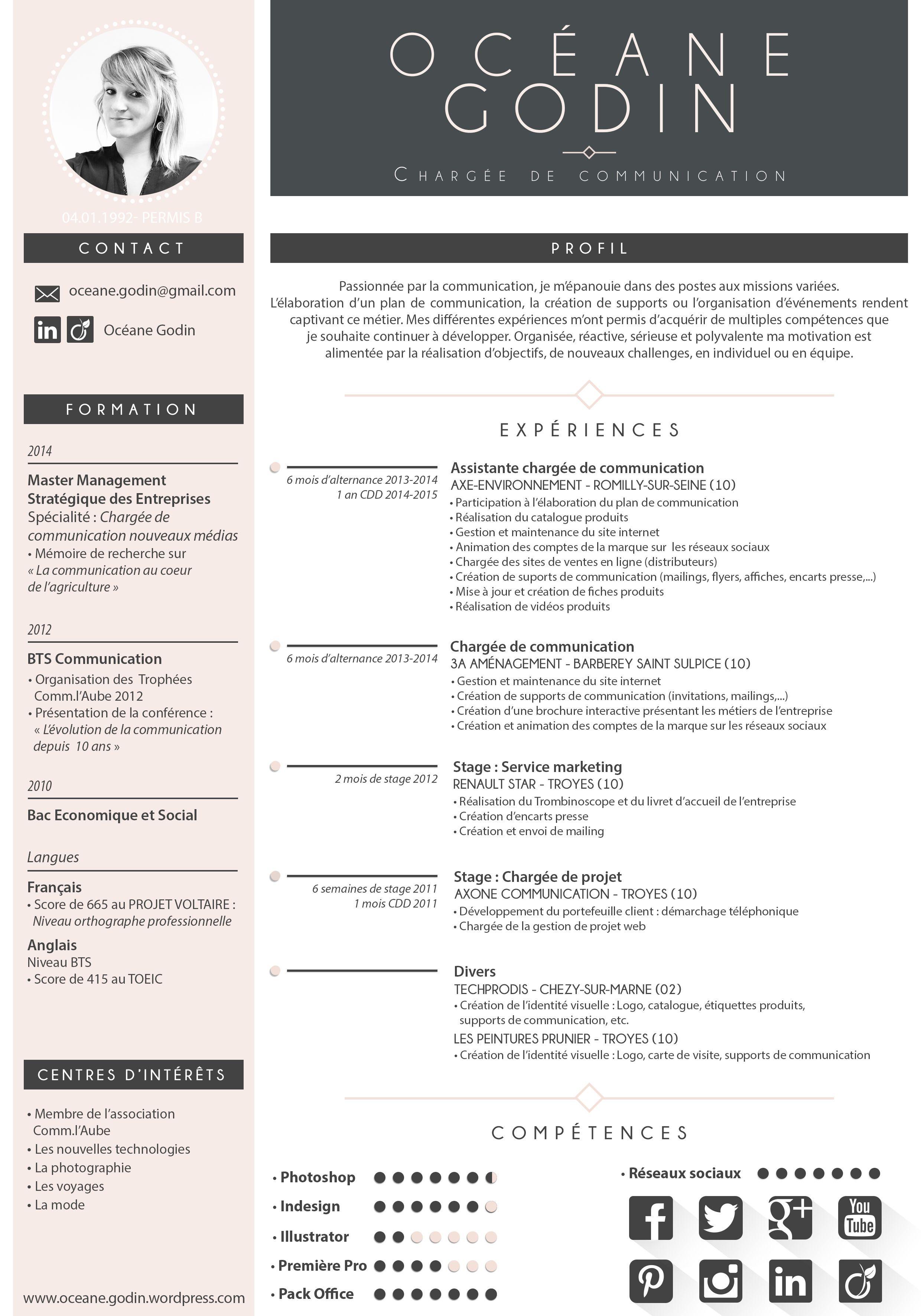 modeles de cv moderne creatif assistante administrative