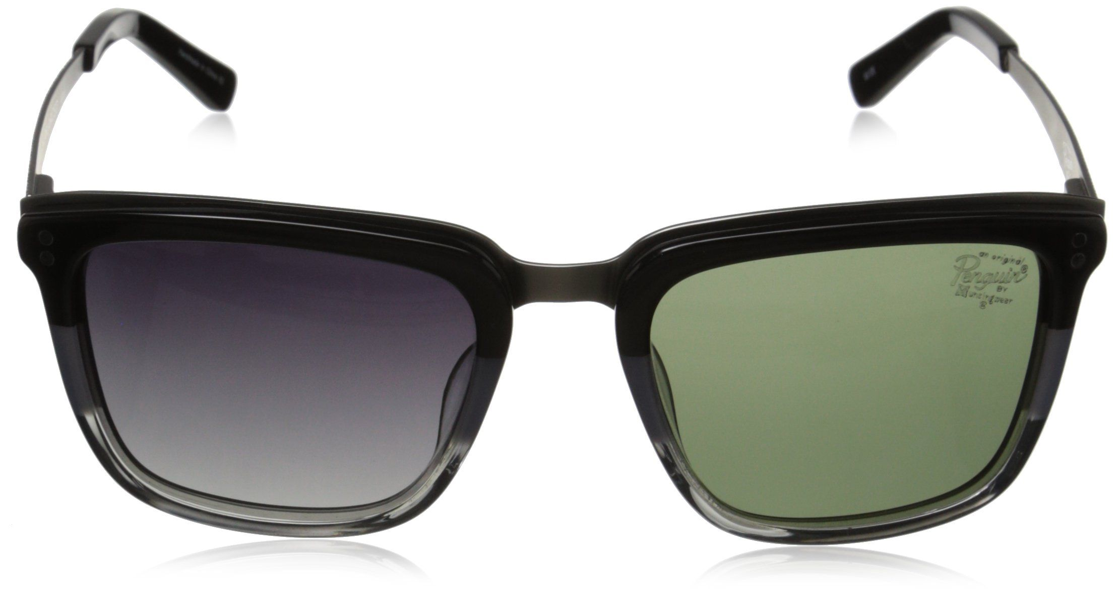 3dda7999ad7f Original Penguin Mens The Brooklyn Polarized Sunglasses Black Tin Grey  ClearMatte Gunmetal and Smoke One Size