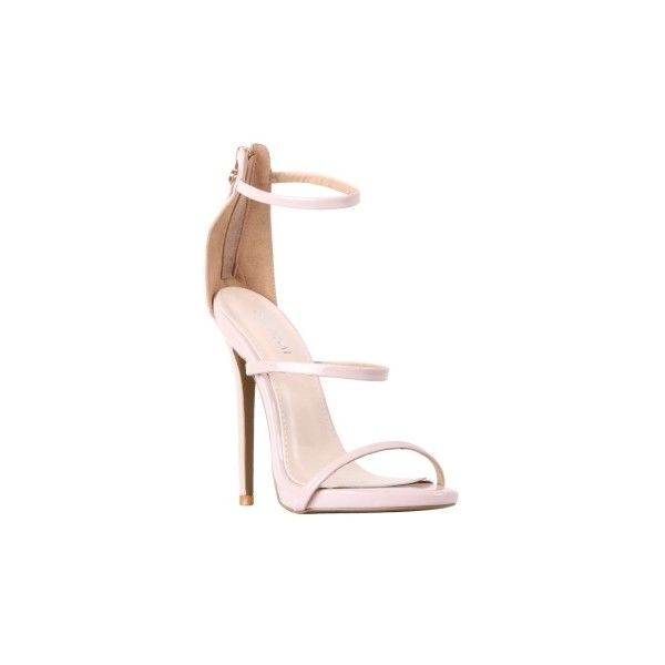 Sienna Barely There Strappy Heels ($34) ❤ liked on Polyvore featuring shoes, pumps, high heel court shoes, high heeled footwear, high heel pumps, strappy high heel shoes and stiletto heel shoes