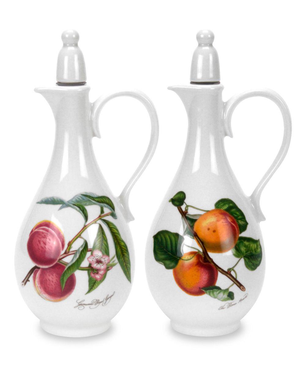 pomona oil vinegar cruet set portmeirion pottery dinner sets dinnerware on kitchen organization oil and vinegar id=87446