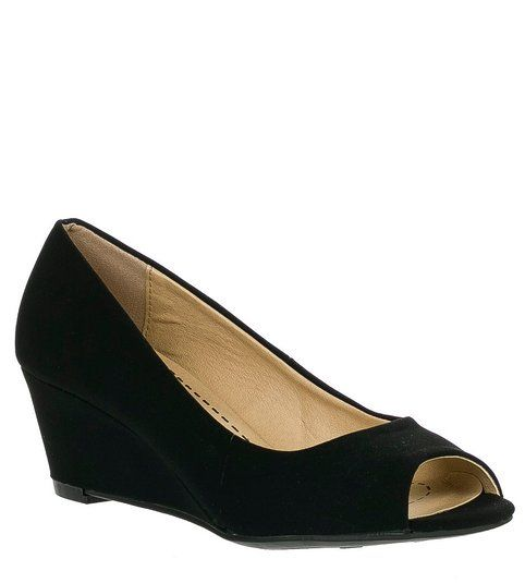 afa072ca9 Amazon.com: Forever Link Women's DORIS-23 Faux Leather Mid Heel Round Toe  Wedge Pumps: Shoes