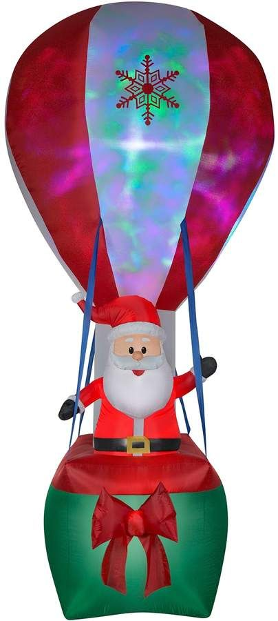 National Tree Company 144-in Inflatable Santa Indoor / Outdoor - inflatable outdoor christmas decorations