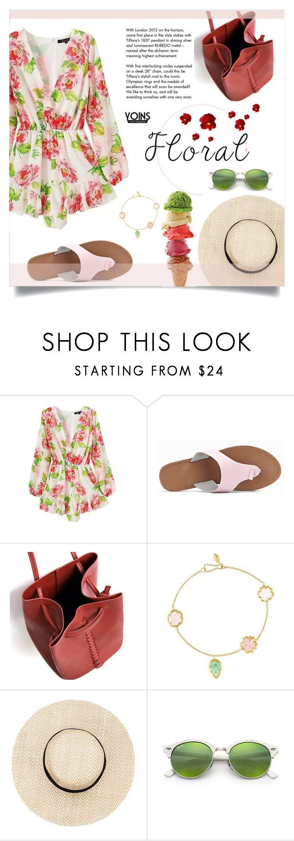 """""""Yoins 9/30 : Floral"""" by millilolly ❤ liked on Polyvore featuring Pippa Small, Tiffany & Co., Ray-Ban, yoins, yoinscollection and loveyoins"""