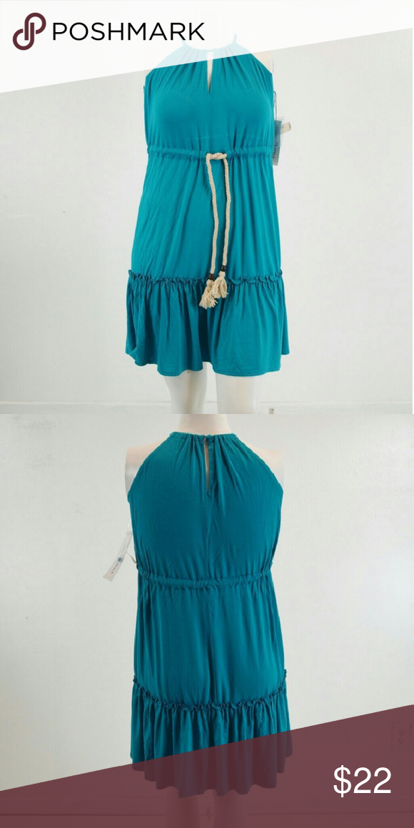 New London Style Tiered Dress Size 6 Has keyhole back/front, rope drawstring waist & tiered. Bust measures 37 inches with a length of 36 inches. Material rayon/spandex. Add to a bundle to receive 20% off 3 or more items. Serious offers welcomed. London Style Dresses