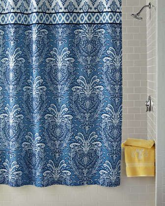 Dena Home Madison Shower Curtain Blue Shower Curtains Navy Blue