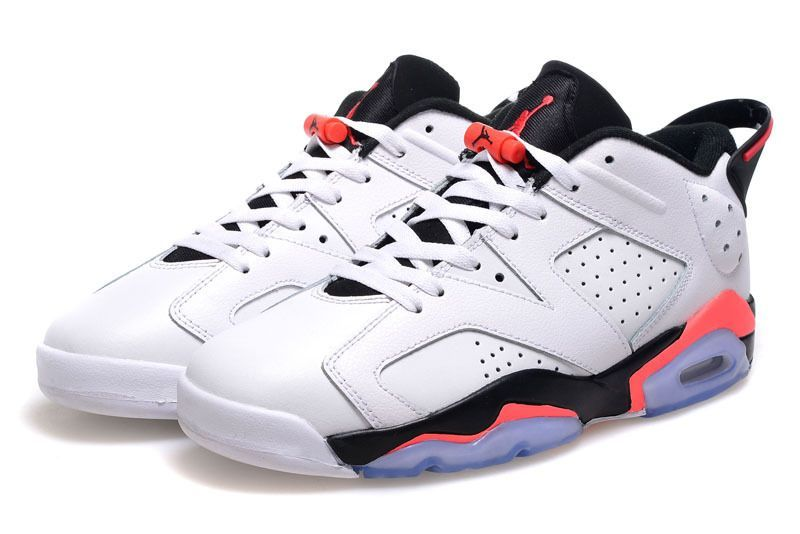 Air Jordan 6 Low Cut White Black Pink Shoes For Women - Click Image to Close 0d8bc0730