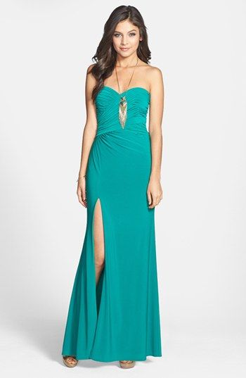 Hailey Logan Embellished Strapless Gown (Juniors) (Online Only) available at #Nordstrom