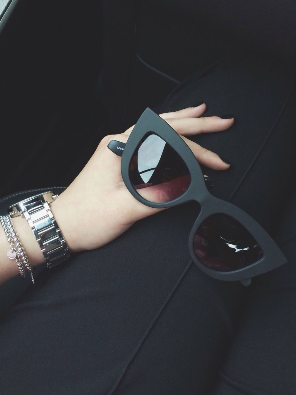 Keep your sunglasses functional and stylish. Always go for a frame that flatters your face. Square face, choose a rounded frame. Round face, choose a more angular frame.