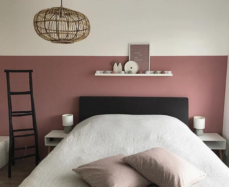 Slaapkamer Muur Inspiratie : Slaapkamer inspiratie mooie border van verf in een mooi kleur