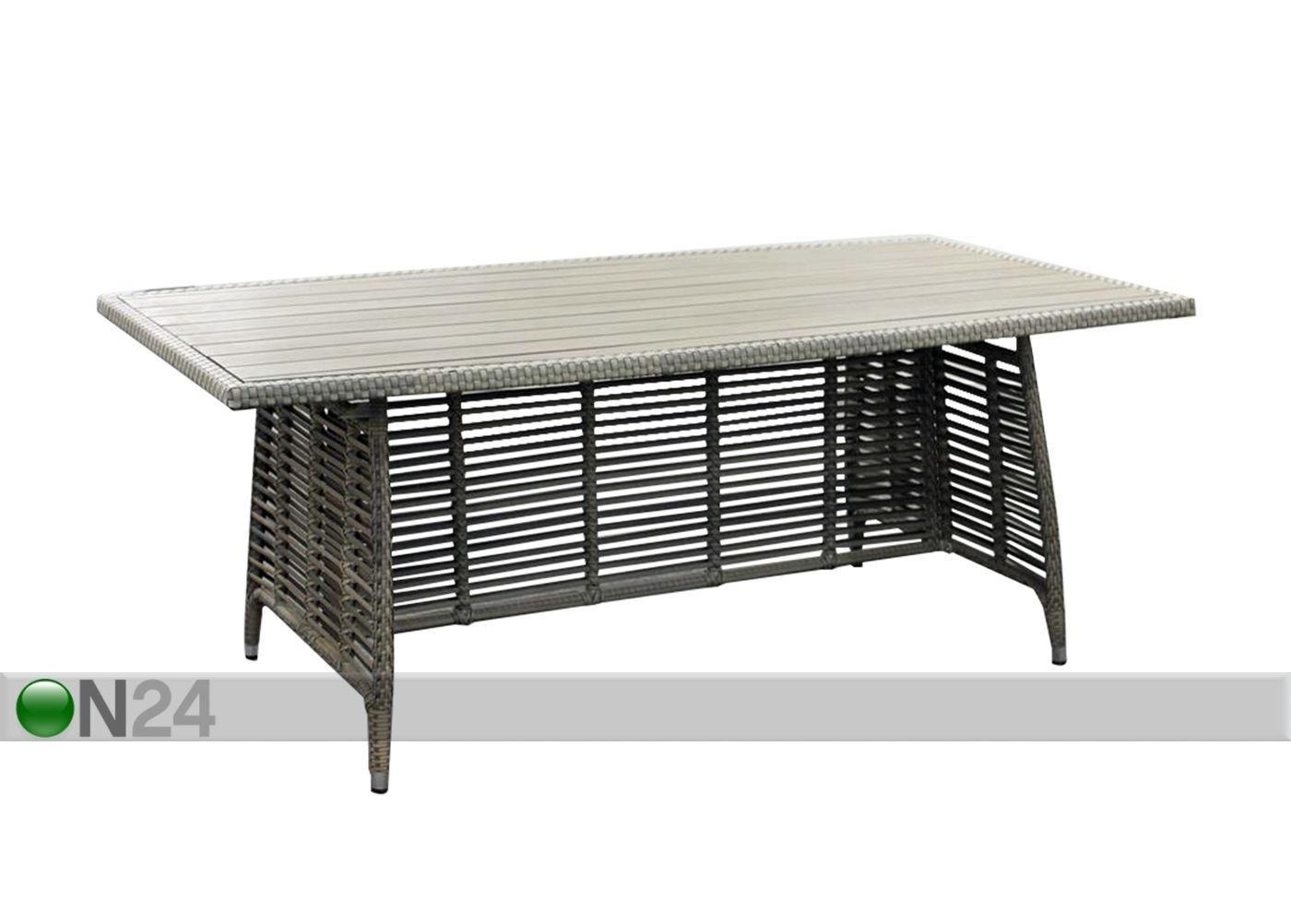 Puutarhapöytä ZENICA 200x110 cm EV-91666 - ON24 Sisustustavaratalo
