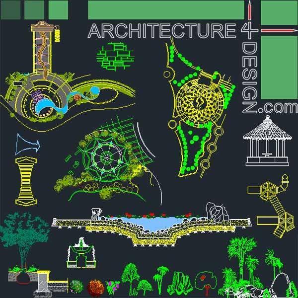 Landscape And Park Design 2D And 3D