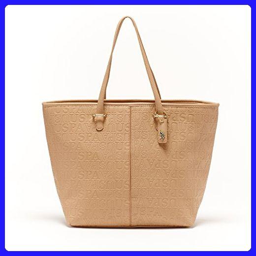 1e72e82883f ... quality design 6be1c b2070 US Polo ASSN Designer Handbags Womens  Heather Embossed Satchel Bag (Tan ...