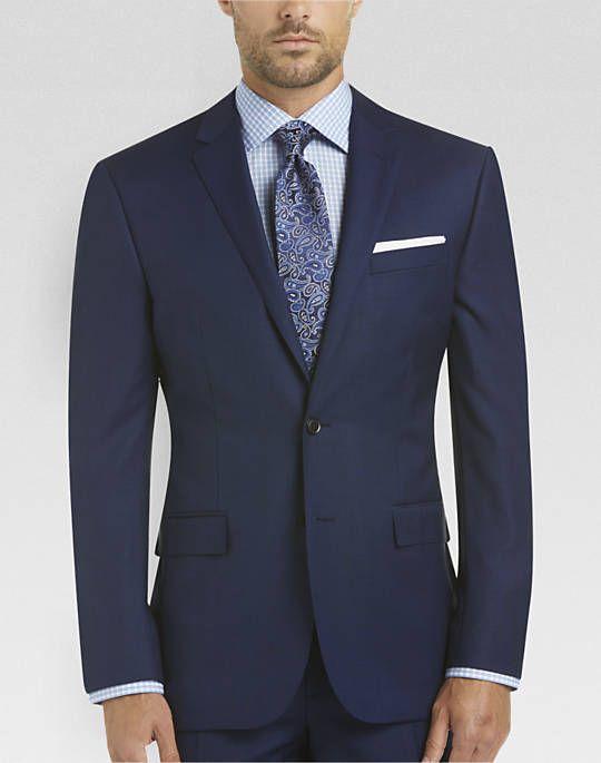 7aed6b30 JOE by Joseph Abboud Blue Slim Fit Survival Suit - Slim Fit | Men's  Wearhouse