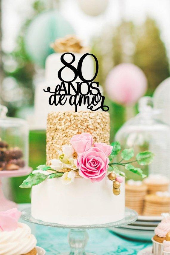 th birthday cake topper anos de amor spanish also rh pinterest