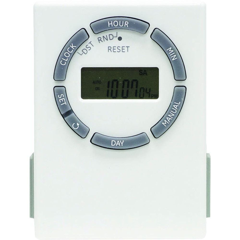 Ge Sunsmart Grounded 7 Day Digital Timer With Random On And Off 2 Purchased A 3wayge Inwall It Comes Outlets