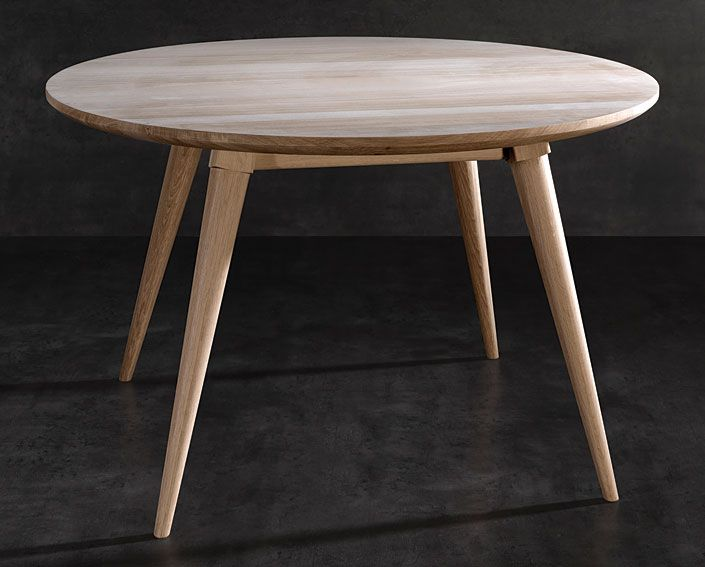 Mesa de comedor retro maria material madera de roble for Comedor mesa redonda