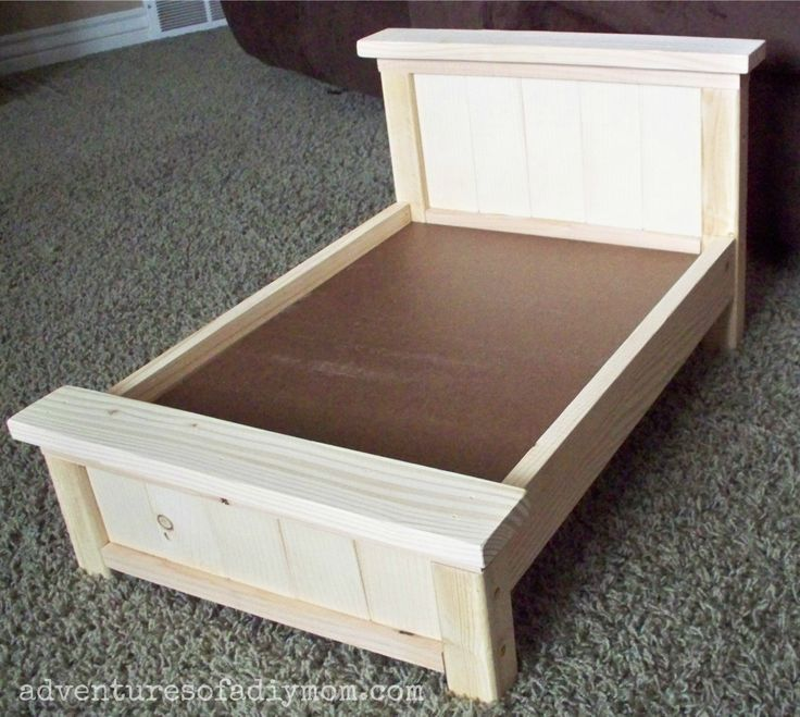 Girls Kids Childrens Wooden Nursery Bedroom Furniture Toy: DIY Farmhouse Doll Bed For American Girl Dolls