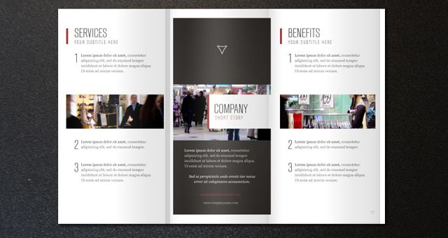 company introduction leaflet brochure T m v i Google – Business Pamphlet Templates