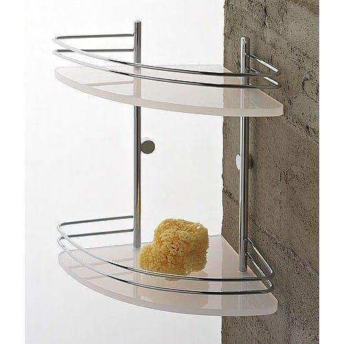 Nameeks 1583 Toscanaluce Collection Glass Bathroom Shelf (Transparent)