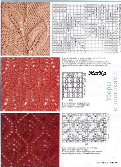 SOLO PUNTOS: tricot calados punto hoja | Tejidos de punto ...