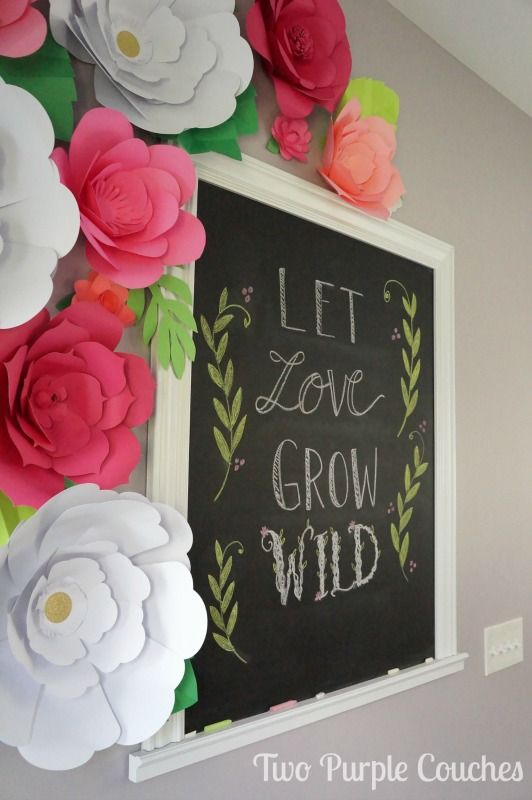 Diy giant paper flower backdrop we heart silhouette pinterest absolutely stunning diy paper flower backdrop love this idea for a shower party or wedding mightylinksfo