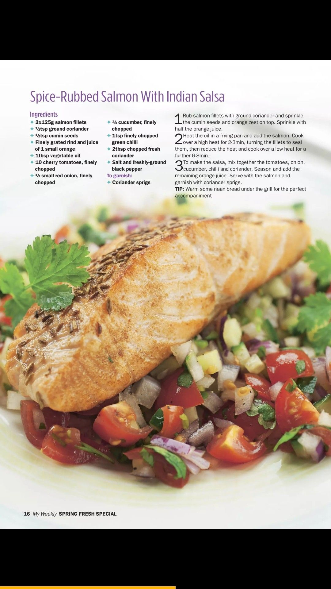 spiced rubbed salmon with indian salsa various fish recipes in