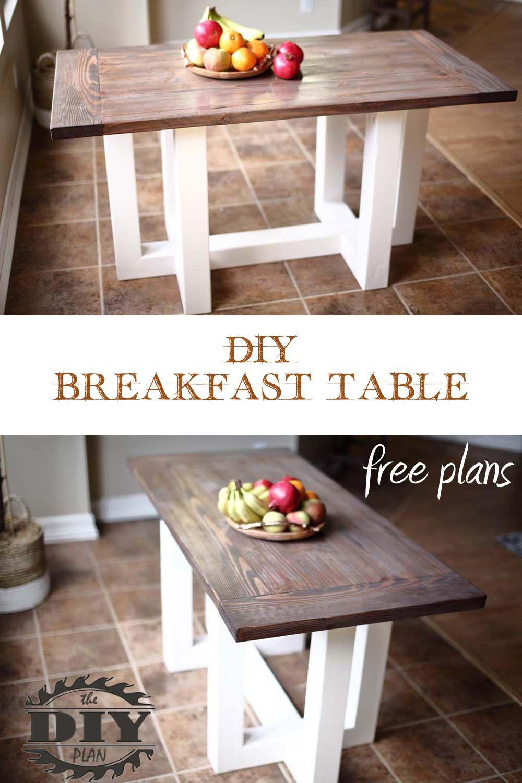Diy Breakfast Table Breakfast Table Diy Breakfast Diy Table