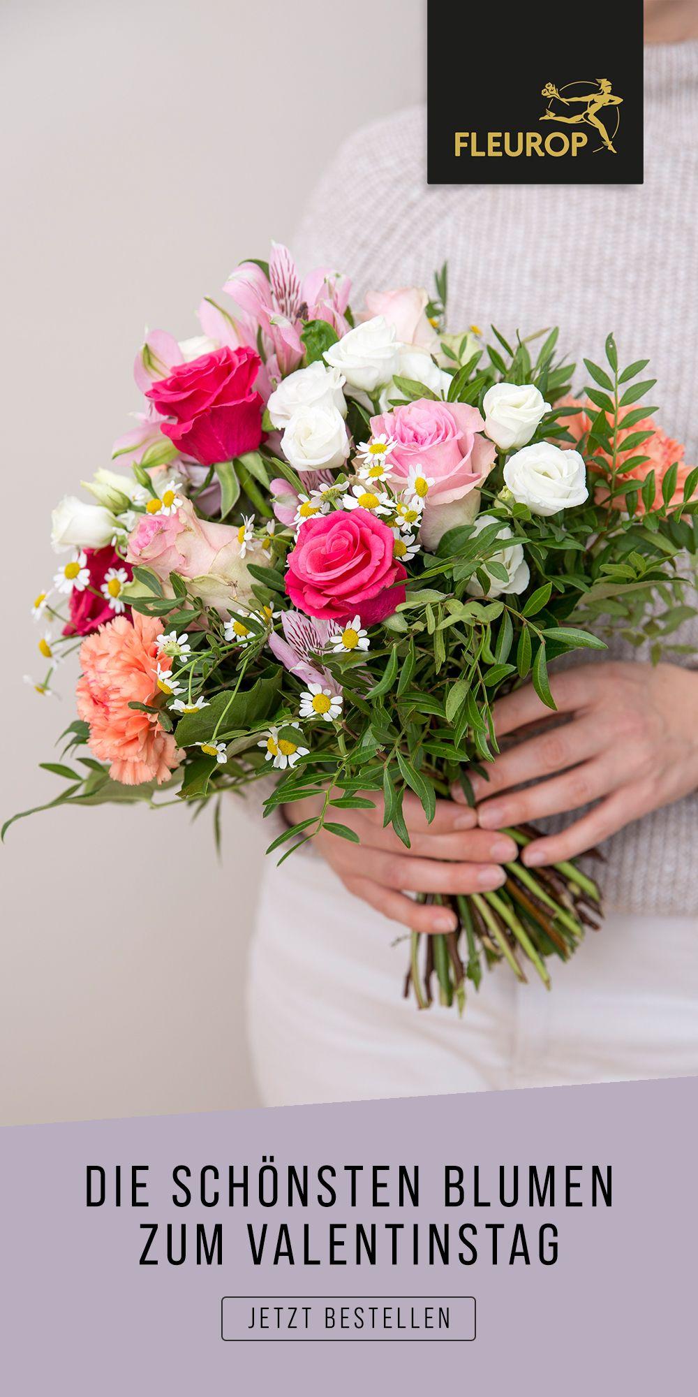 Geschenkidee zum Valentinstag: Liebesgrüße mit Blumen via