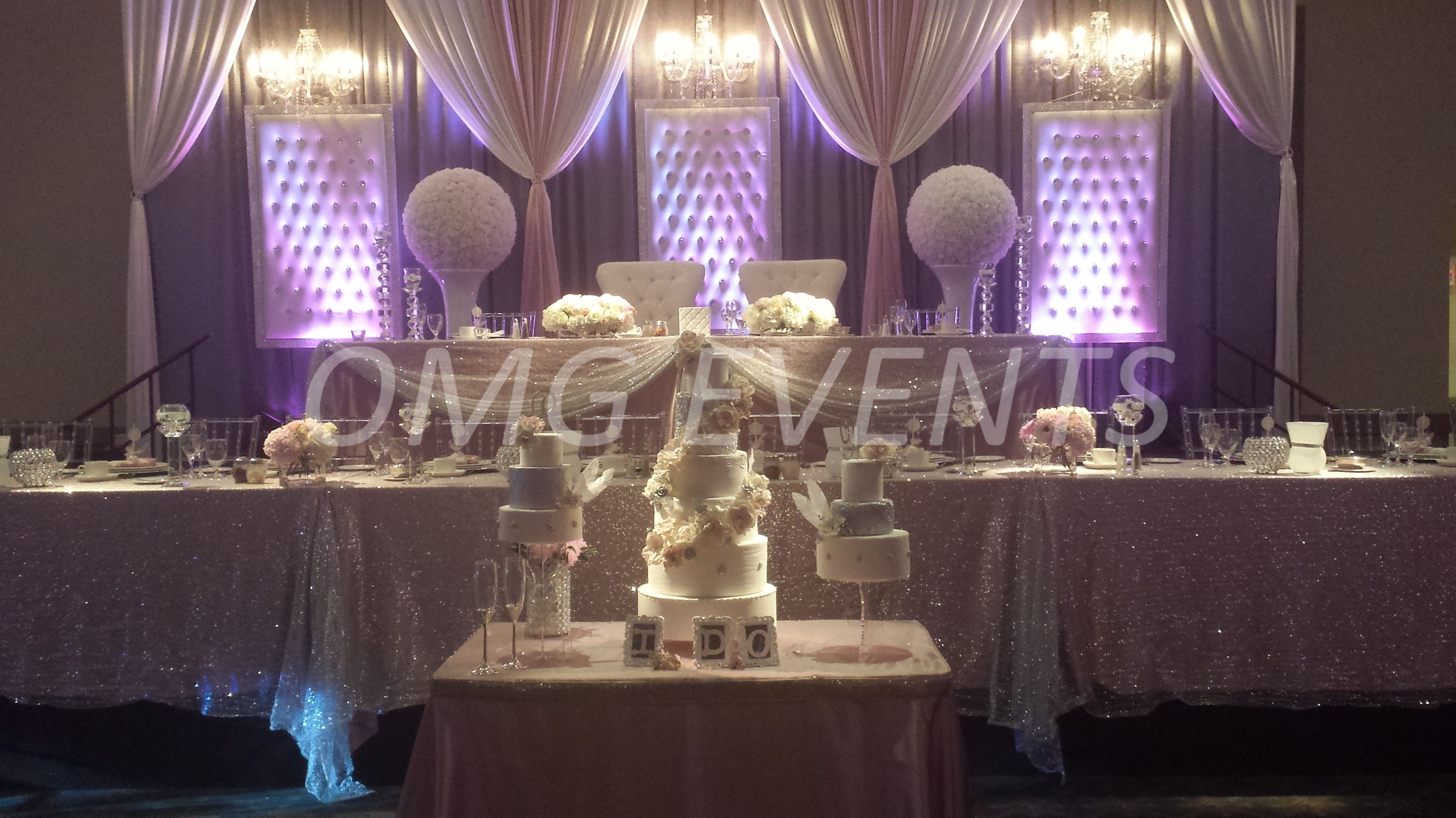 backdrop and head table fit for a king and queen | wedding