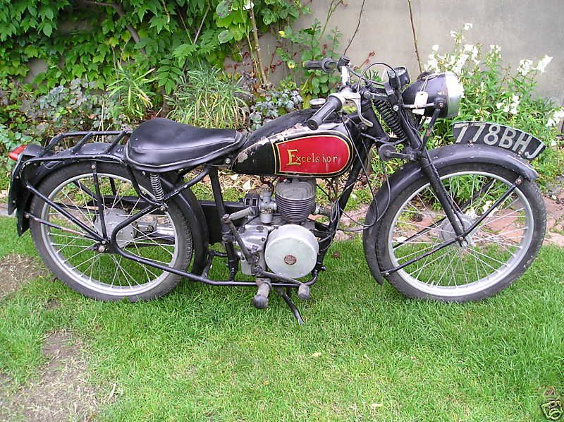 1946 Excelsior 125cc 1946 Excelsior 125cc This Excelsior Was Originaly Registered In 1946 This Model Was Very Popular Although Few Have Survived It Has A 125c