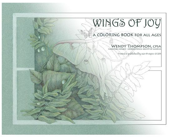 Coloring Book for All Ages    Wings of Joy by wthompsonart on Etsy, $18.00