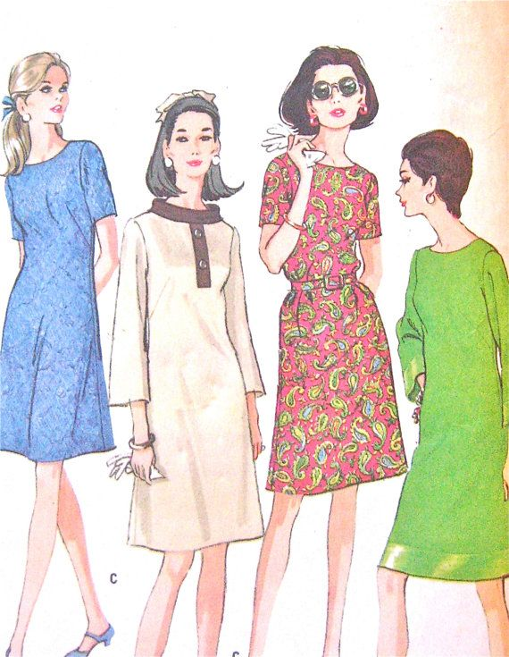 Uncut 60s McCall\'s 8999 Dress Pattern Bust 41 inches | Pinterest ...