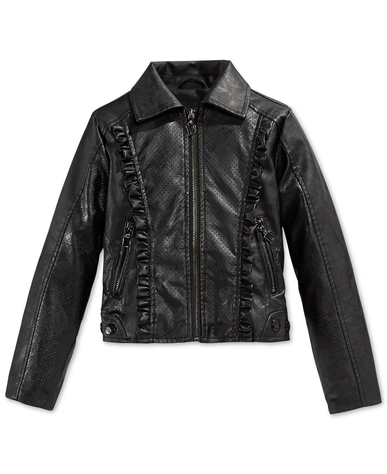 Urban Republic Girls' Perforated Faux-Leather Jacket - Kids Girls 7-16 - Macy's