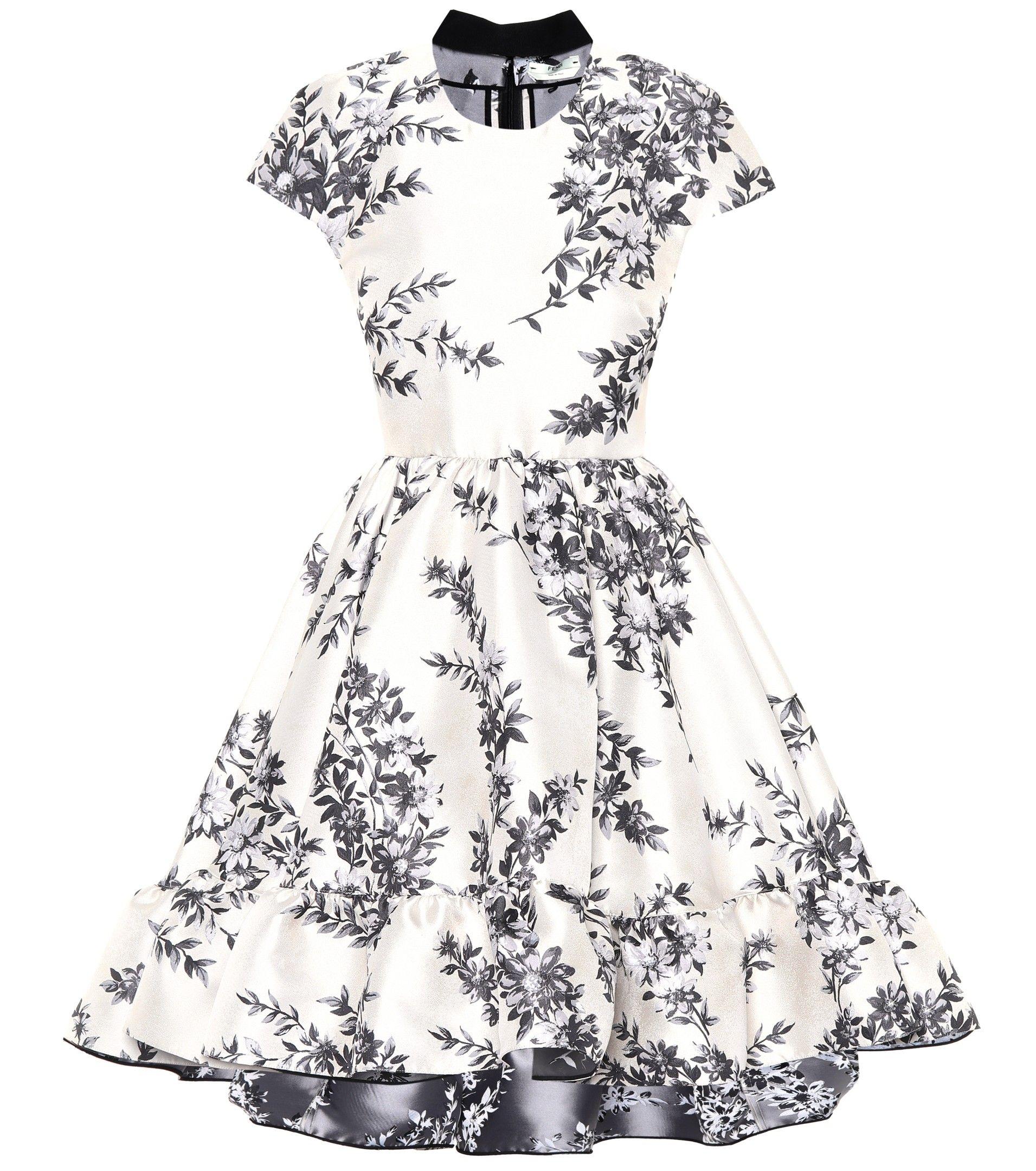 White Floral Brocade Dress Dresses Brocade Dresses Clothes Design [ 2160 x 1911 Pixel ]