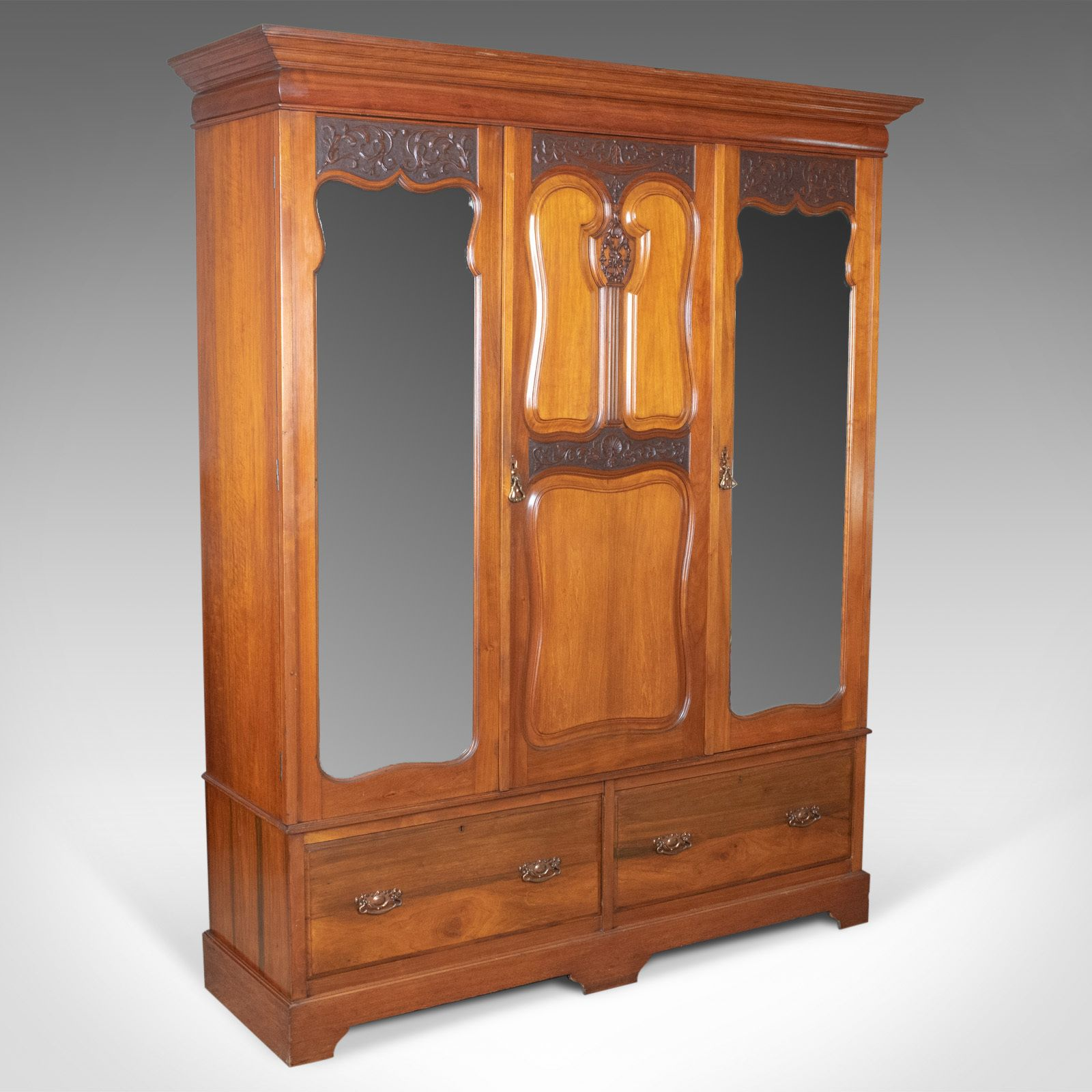 Antique Wardrobe English Walnut