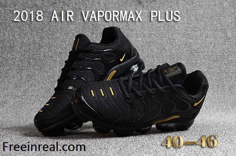 half off 73242 e902b New Nike Air Max Tn 2018 Vapormax Plus Golden Black Men
