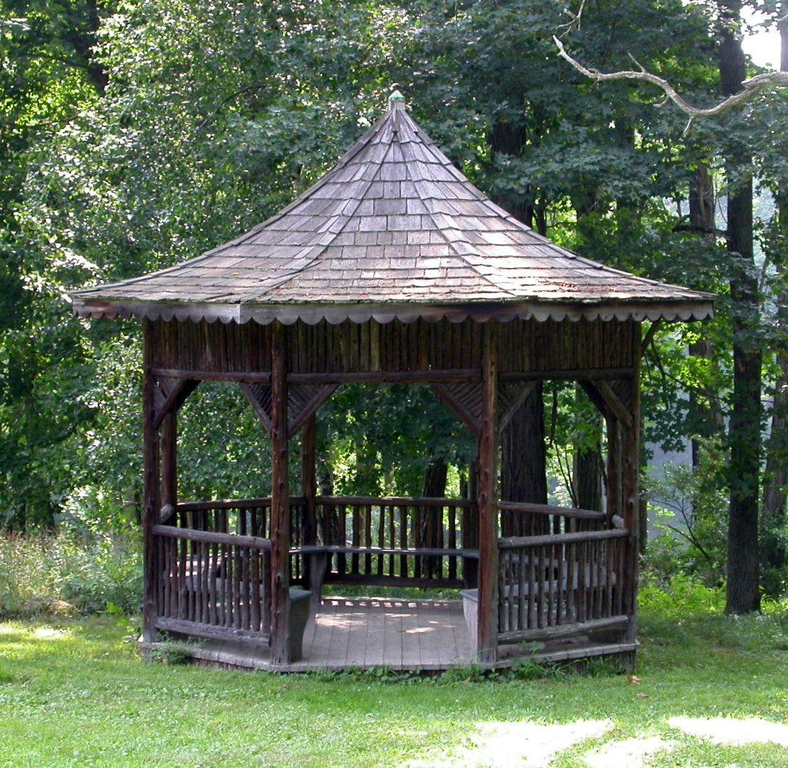 Rustic Pine Toung And Groove Interior Design: Rustic Gazebo, Catskills, NY