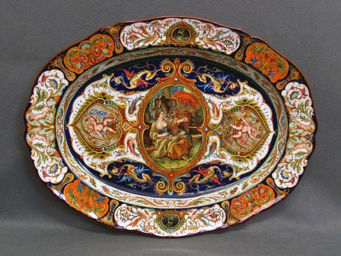 Piatto ovale.jpg 700×525 percorso pinterest porcelain