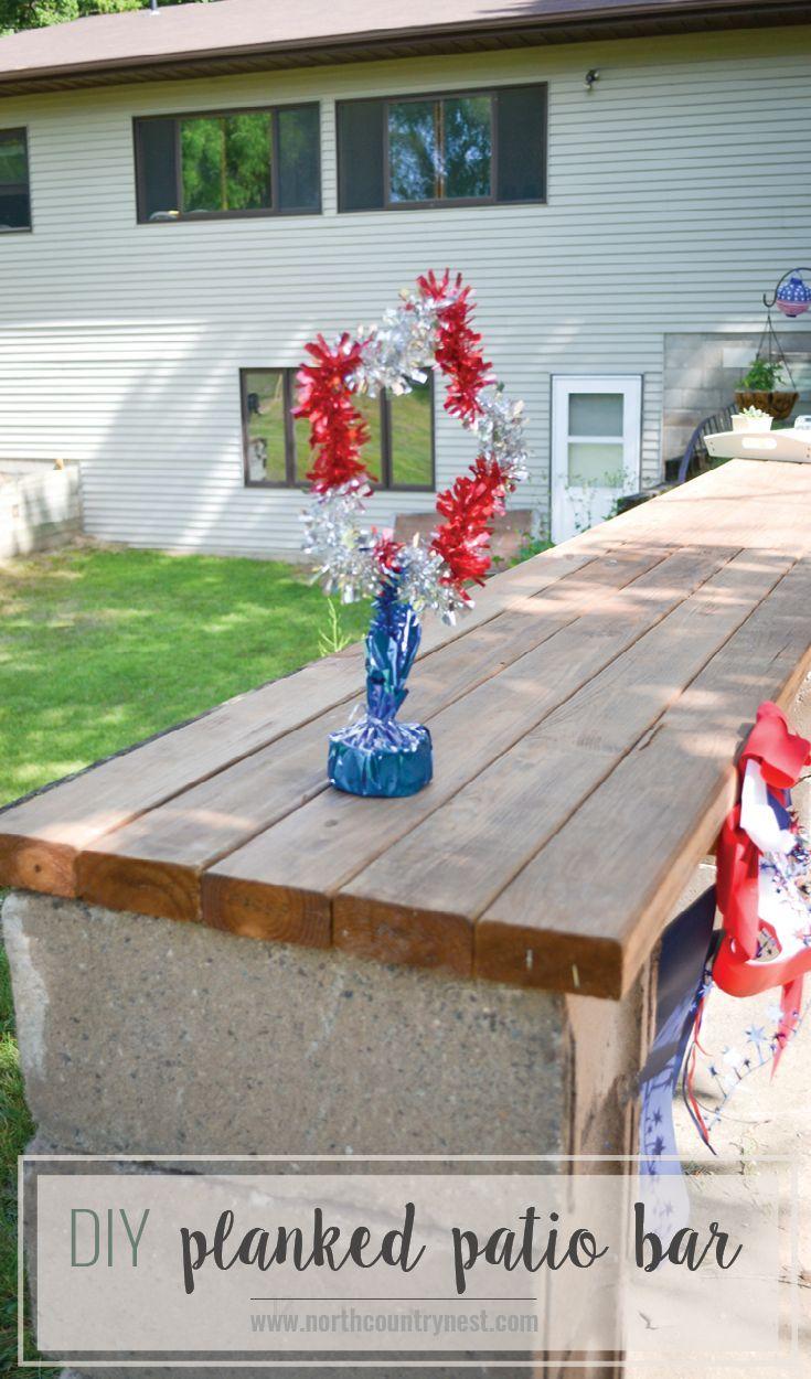 the easiest diy patio bar ever diy patio patio bar and plank