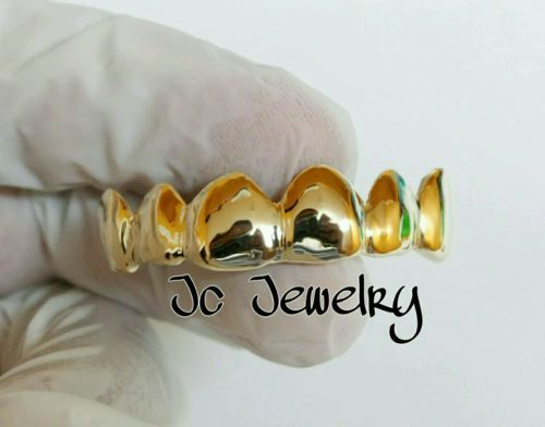 Other Mens Jewelry 177770: 14K Overlay Gold 6 Piece Gold Grillz With Deep Perm Cut Gill -> BUY IT NOW ONLY: $120 on eBay!