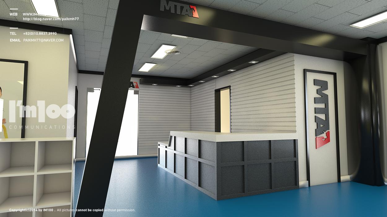 PUM Taekwondo GYM im100 Interior design art, Gym