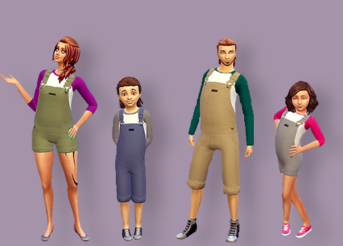 Sims 4 CC's - The Best: Overalls for All by Coli's Wonderland