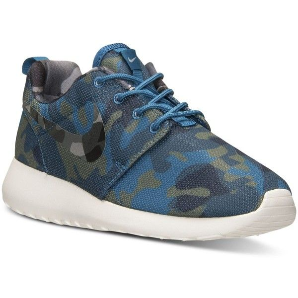 f36e21e4394e8c Nike Women s Roshe One Print Casual Sneakers from Finish Line ( 80) ❤ liked  on Polyvore featuring shoes