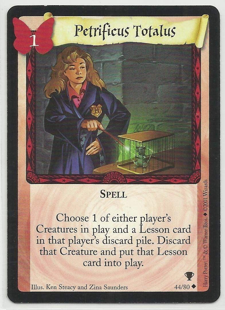 Petrificus Totalus 2001 Harry Potter Quidditch Cup Trading Card 44 Harry Potter Cards Harry Potter Quidditch Cards